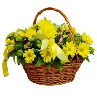 Basket of 9 chrysanthemums - flowers and bouquets on roza.pl.ua