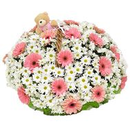 Basket of 15 gerberas and 10 chrysanthemums - flowers and bouquets on roza.pl.ua