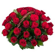 Basket of 35 red roses - flowers and bouquets on roza.pl.ua