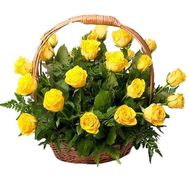Basket of 31 Yellow Roses - flowers and bouquets on roza.pl.ua