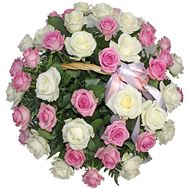 Basket of 41 roses - flowers and bouquets on roza.pl.ua