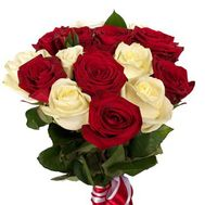 Bouquet of 15 roses - flowers and bouquets on roza.pl.ua