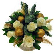 Букет из 11 роз и украшений - цветы и букеты на roza.pl.ua