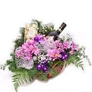 Подарочная корзина - цветы и букеты на roza.pl.ua