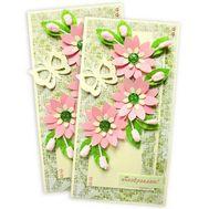 Поздравительная открытка ручной работы - цветы и букеты на roza.pl.ua
