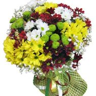 Bouquet of 17 chrysanthemums - flowers and bouquets on roza.pl.ua