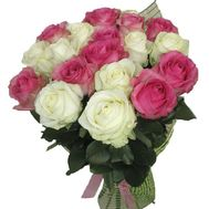 Bouquet of 19 roses - flowers and bouquets on roza.pl.ua