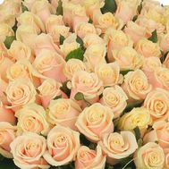 Cream roses per piece - flowers and bouquets on roza.pl.ua
