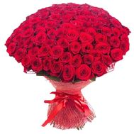 Bouquet of 101 red roses - flowers and bouquets on roza.pl.ua