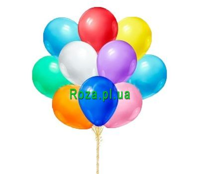 """Multicolored balloons"" in the online flower shop roza.pl.ua"
