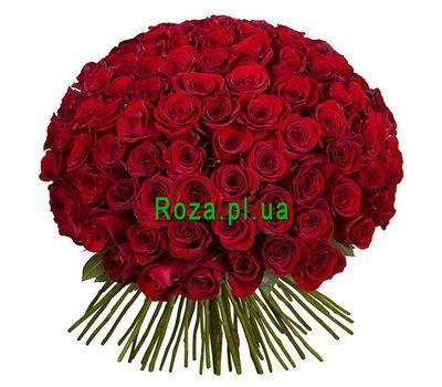 """101 красная импортная роза"" в интернет-магазине цветов roza.pl.ua"