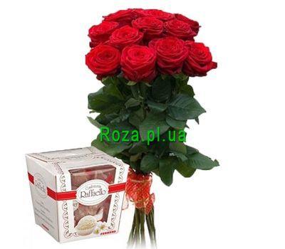 """""""11 роз и рафаэлло"""" в интернет-магазине цветов roza.pl.ua"""