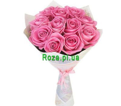 """11 pink roses in the package"" in the online flower shop roza.pl.ua"