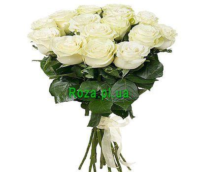 """""""15 импортных белых роз"""" в интернет-магазине цветов roza.pl.ua"""