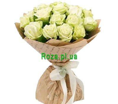 """25 white roses in craft"" in the online flower shop roza.pl.ua"