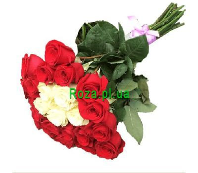 """25 imported roses in the original bouquet"" in the online flower shop roza.pl.ua"