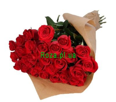 """""""25 red roses"""" in the online flower shop roza.pl.ua"""