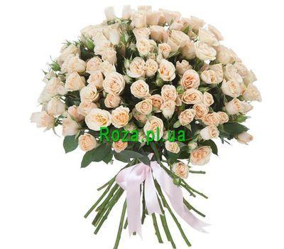 """""""25 кремовых кустовых роз"""" в интернет-магазине цветов roza.pl.ua"""