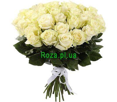 """31 белая импортная роза"" в интернет-магазине цветов roza.pl.ua"