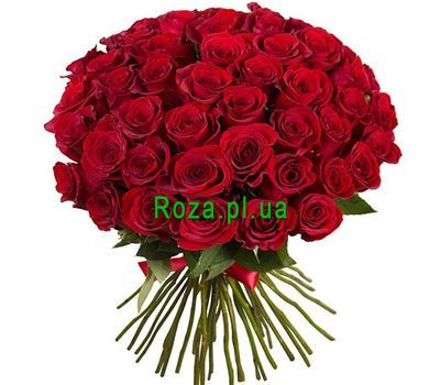 """""""51 red imported rose"""" in the online flower shop roza.pl.ua"""