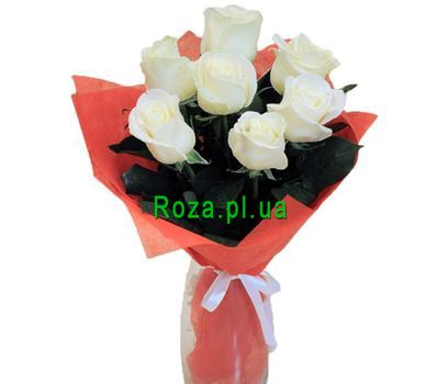"""""""7 white roses"""" in the online flower shop roza.pl.ua"""