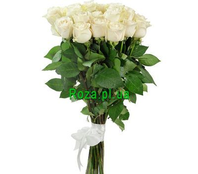 """""""White imported roses"""" in the online flower shop roza.pl.ua"""
