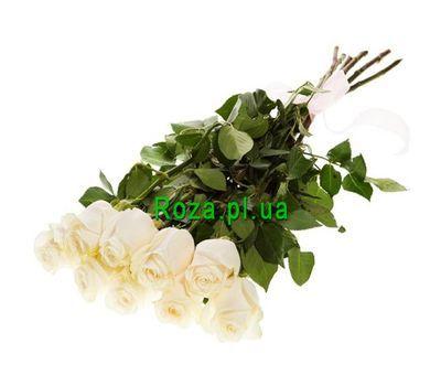 """""""Белые импортные розы в букете"""" в интернет-магазине цветов roza.pl.ua"""