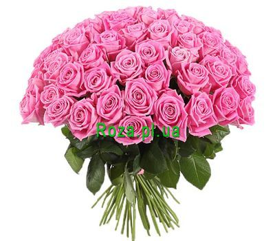 """Large bouquet of pink roses"" in the online flower shop roza.pl.ua"