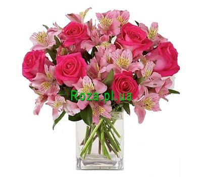 """""""Bouquet of flowers for the girl"""" in the online flower shop roza.pl.ua"""