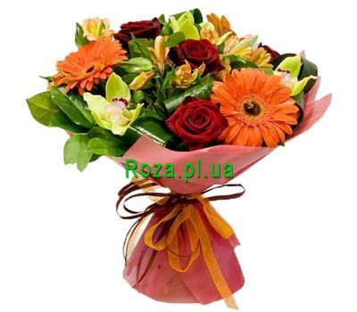 """Birthday bouquet for mom"" in the online flower shop roza.pl.ua"
