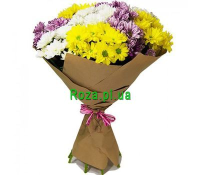 """Bouquet of 11 chrysanthemums"" in the online flower shop roza.pl.ua"