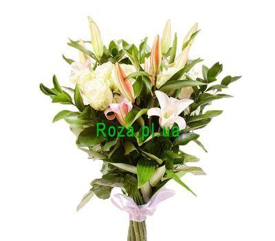 """""""Букет из белых роз и лилий"""" в интернет-магазине цветов roza.pl.ua"""