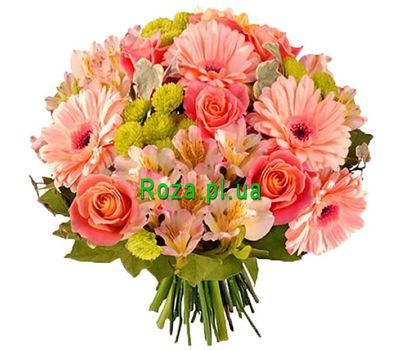 """Grannys birthday bouquet"" in the online flower shop roza.pl.ua"