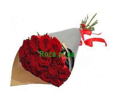 """Bouquet of red roses in paper"" in the online flower shop roza.pl.ua"