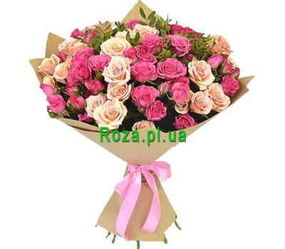 """Lovely bouquet of small-sized roses"" in the online flower shop roza.pl.ua"