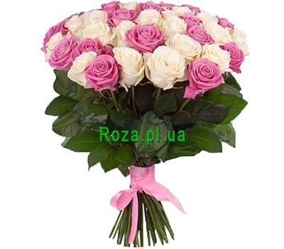 """Bouquet of roses for mom"" in the online flower shop roza.pl.ua"