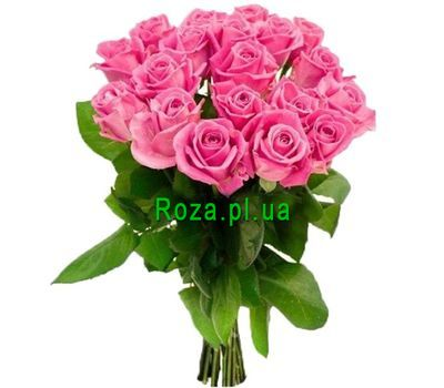 """Bouquet of pink roses for a girl"" in the online flower shop roza.pl.ua"