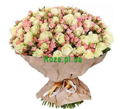 """Elite bouquet of roses"" in the online flower shop roza.pl.ua"