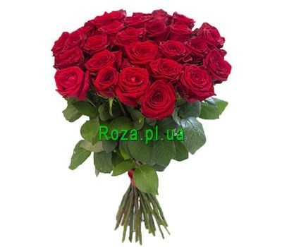"""Beautiful bouquet of red roses"" in the online flower shop roza.pl.ua"