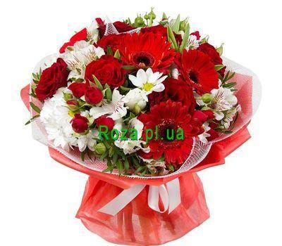 """""""Красно-белый букет цветов"""" в интернет-магазине цветов roza.pl.ua"""