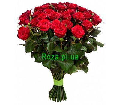 """Red roses in a bouquet"" in the online flower shop roza.pl.ua"