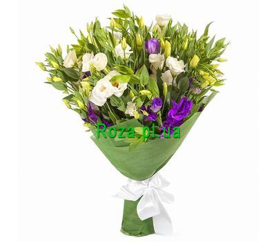 """""""Buy eustoma in bouquet"""" in the online flower shop roza.pl.ua"""