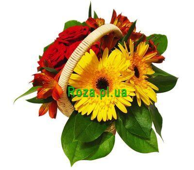 """""""Маленькая корзинка цветов"""" в интернет-магазине цветов roza.pl.ua"""