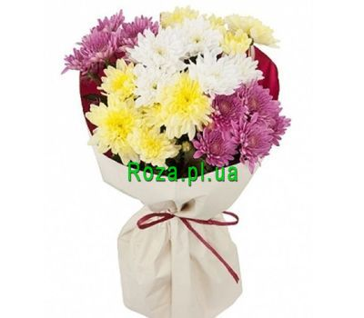 """""""A small bouquet of chrysanthemums"""" in the online flower shop roza.pl.ua"""