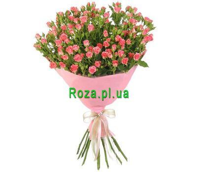 """Lovely bouquet of pink roses spray"" in the online flower shop roza.pl.ua"