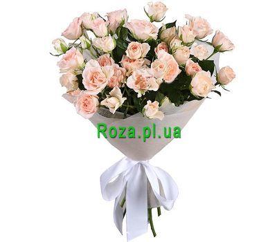 """Mini bouquet of bush roses"" in the online flower shop roza.pl.ua"