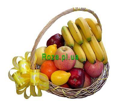 """""""Небольшая подарочная корзина фруктов"""" в интернет-магазине цветов roza.pl.ua"""