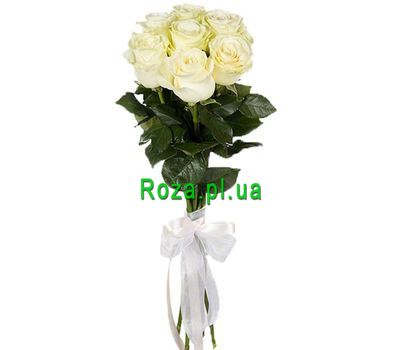 """A small bouquet of white imported roses"" in the online flower shop roza.pl.ua"
