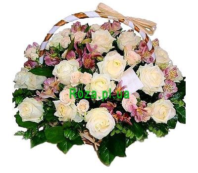 """A delicate basket of flowers"" in the online flower shop roza.pl.ua"