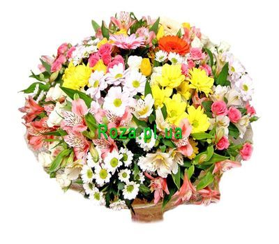 """Colorful bouquet of flowers"" in the online flower shop roza.pl.ua"